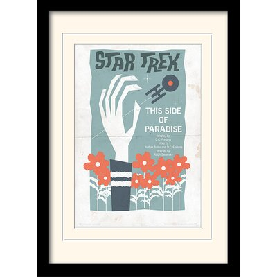 Art Group This Side of Paradise by Star Trek Mounted Framed Vintage Advertisement