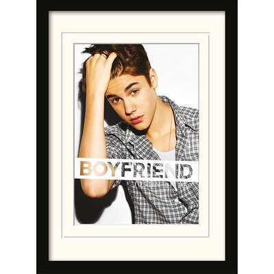 "Art Group Justin Bieber ""Boyfriend"" Framed Graphic Art"