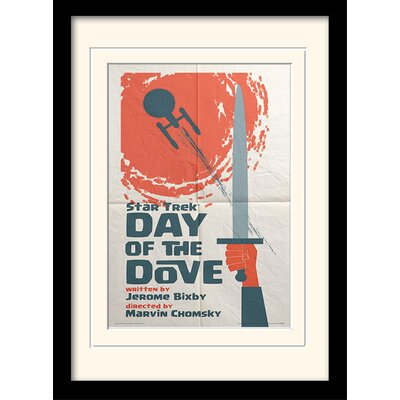 Art Group Day Of The Dove by Star Trek Mounted Framed Vintage Advertisement