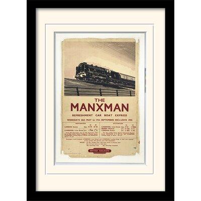 "Art Group Isle of Man ""The Manxman"" Framed Vintage Advertisement"