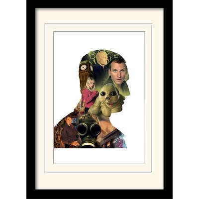 Art Group Doctor Who Eccleston Framed Vintage Advertisement