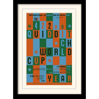 Art Group Harry Potter Quidditch World Cup Framed Typography