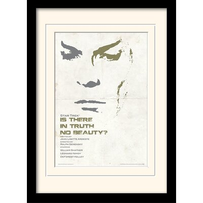 Art Group Is There In Truth No Beauty by Star Trek Mounted Framed Vintage Advertisement