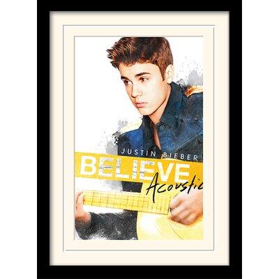 "Art Group Justin Bieber ""Acoustic"" Framed Graphic Art"