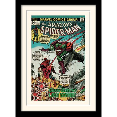 Art Group Spider-Man Green Goblin Mounted Framed Graphic Art
