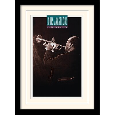 Art Group Louis Armstrong Mack The Knife Mounted & Framed Vintage Advertisement