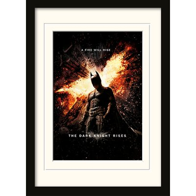 Art Group A Fire Will Rise - The Dark Knight Rises Framed Vintage Advertisement