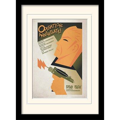 Art Group Annihilate! by Star Trek Mounted Framed Vintage Advertisement