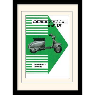 "Art Group Lambretta ""TV 175"" Framed Vintage Advertisement"