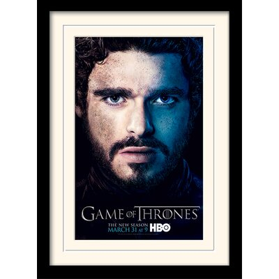 Art Group Game of Thrones Season 3 - Rob Framed Vintage Advertisement