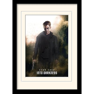 Art Group Into Darkness - Kirk by Star Trek Mounted Framed Vintage Advertisement