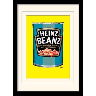 Art Group Heinz Beanz Can Framed Vintage Advertisement