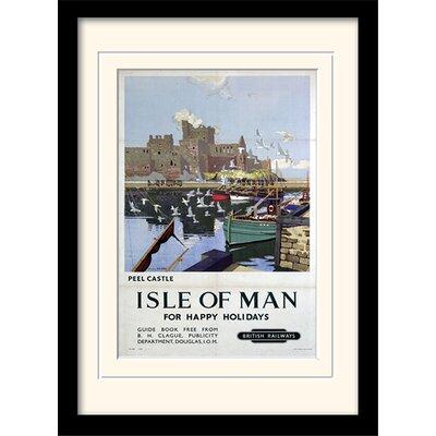 "Art Group Isle of Man ""Peel Castle"" Framed Vintage Advertisement"
