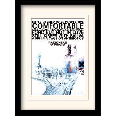 Art Group Radiohead Ok Computer Framed Vintage Advertisement