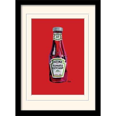 Art Group Heinz - Tomato Ketchup Bottle Framed Vintage Advertisement