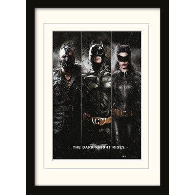Art Group The Dark Knight Rises Framed Vintage Advertisement