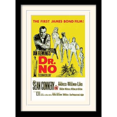"""Art Group James Bond """"Dr. No"""" Framed Vintage Advertisement"""