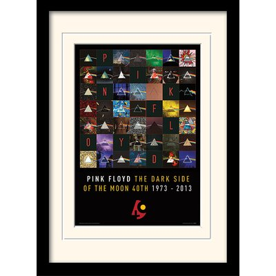 Art Group Pink Floyd Dark Side of The Moon 40th Anniversary Framed Graphic Art
