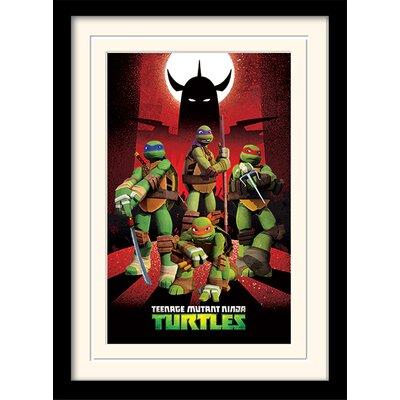 Art Group Shredder Silhouette - Turtles Framed Vintage Advertisement