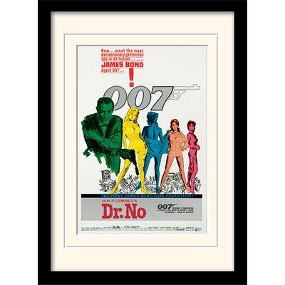 """Art Group James Bond """"Dr No One-Sheet"""" Framed Vintage Advertisement"""