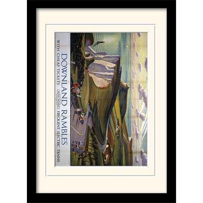 Art Group Downland Rambles Framed Vintage Advertisement