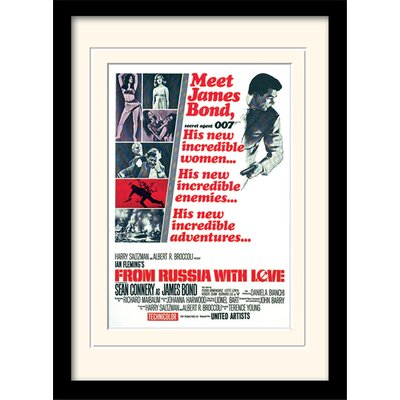 "Art Group James Bond ""From Russia with Love One-Sheet"" Framed Vintage Advertisement"