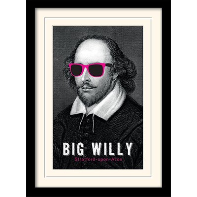 Art Group Big Willy - William Shakespeare Framed Graphic Art
