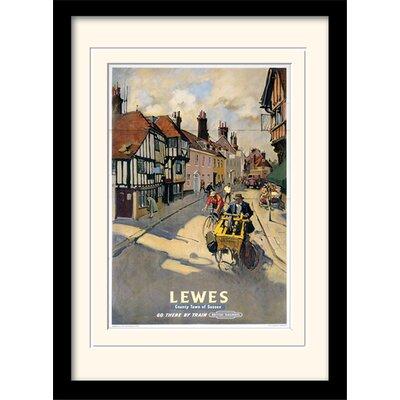 "Art Group Lewes ""1"" Mounted Framed Vintage Advertisement"