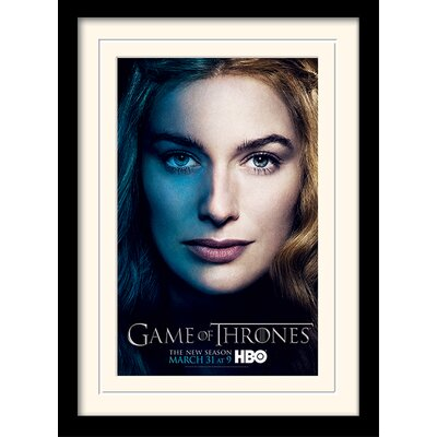 Art Group Game of Thrones Season 3 - Cersei Framed Vintage Advertisement