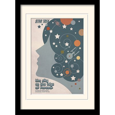 Art Group The City On The Edge Of Forever by Star Trek Mounted Framed Graphic Art
