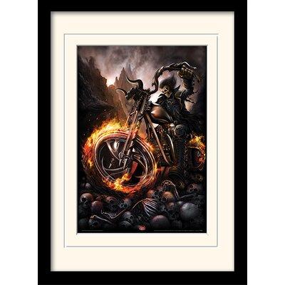 Art Group Spiral Wheels of Fire Mounted Framed Graphic Art
