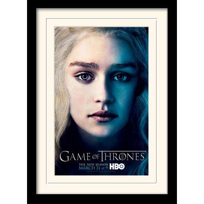 Art Group Game of Thrones Season 3 - Daenrys Framed Vintage Advertisement