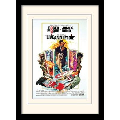 """Art Group James Bond """"Live and Let Die One-Sheet"""" Framed Vintage Advertisement"""