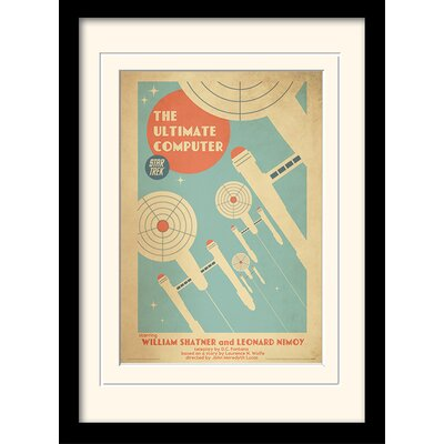 Art Group The Ultimate Computer by Star Trek Mounted  Framed Vintage Advertisement