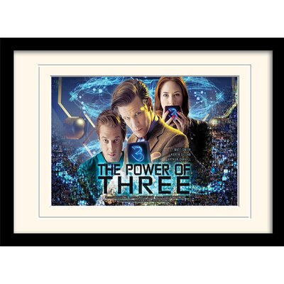 Art Group Doctor Who Power of 3 Framed Vintage Advertisement