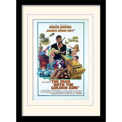 "Art Group James Bond ""The Man with Golden Gun One-Sheet"" Framed Vintage Advertisement"