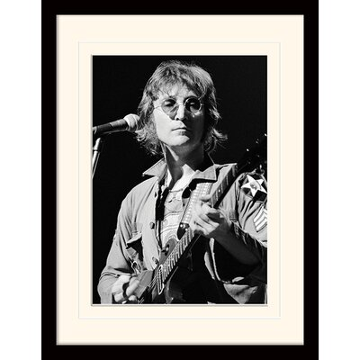 Art Group John Lennon Live by Bob Gruen Framed Photographic Print