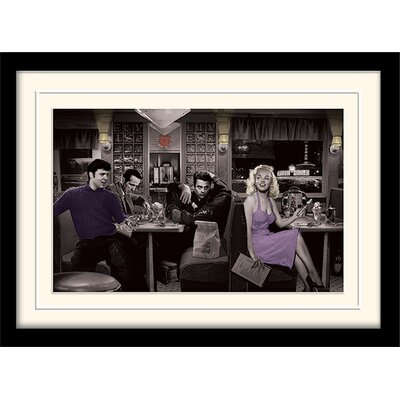 Art Group Blue Plate Special by Chris Consani Framed Graphic Art