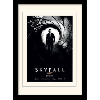 "Art Group James Bond ""Skyfall Teaser"" Framed Vintage Advertisement"