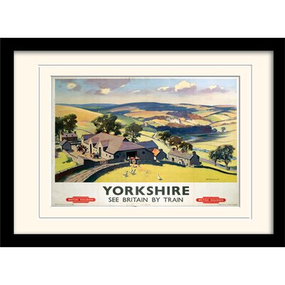 Art Group Train - Yorkshire Framed Vintage Advertisement