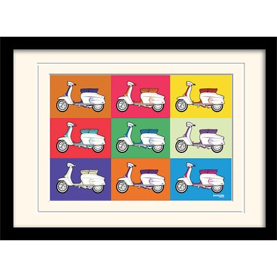 "Art Group Lambretta ""Pop Art"" Framed Vintage Advertisement"
