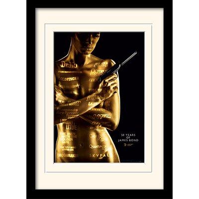 "Art Group James Bond ""50th Anniversary"" Framed Vintage Advertisement"