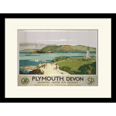"""Art Group Plymouth """"3"""" by Claude Buckle Framed Vintage Advertisement"""
