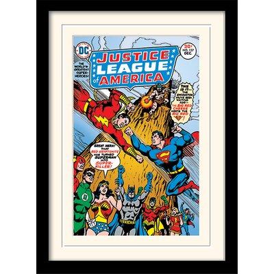 Art Group Justice League America Framed Vintage Advertisement