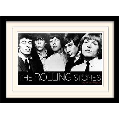 Art Group Rolling Stones Out of Our Heads Framed Vintage Advertisement