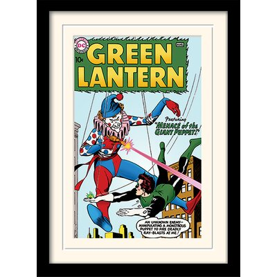 Art Group Green Lantern Giant Puppet Framed Vintage Advertisement
