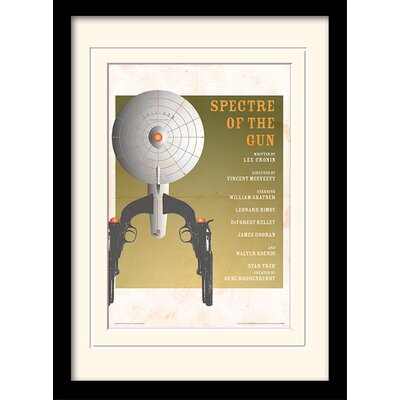 Art Group Spectre Of The Gun by Star Trek Mounted Framed Vintage Advertisement
