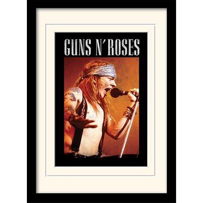 Art Group Guns N Roses Axl Framed Vintage Advertisement