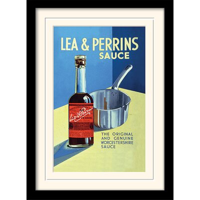 Art Group Lea and Perrins The Original Worcester Sauce Mounted Framed Vintage Advertisement