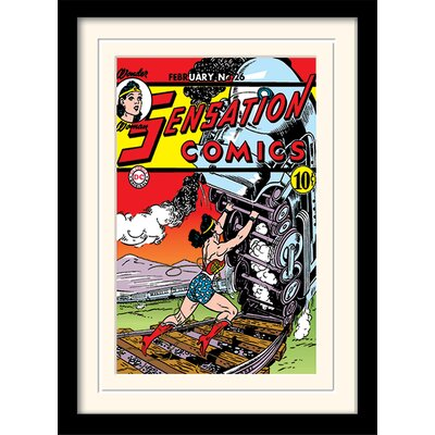 Art Group Sensation Comics - Wonder Woman Framed Vintage Advertisement